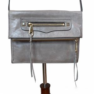 REBECCA MINKOFF taupe crossbody bag purse
